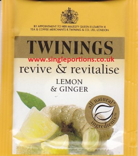 Twinings - Lemon & Ginger - single portion sachet tea bag